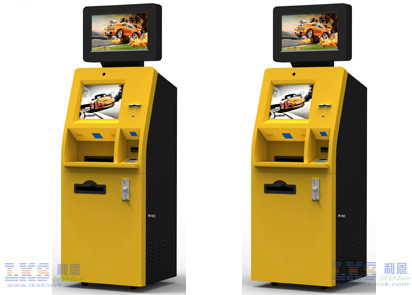 Floor Standing Advertisement Kiosk Dual Screen Kiosk For Foreign Currency Exchange